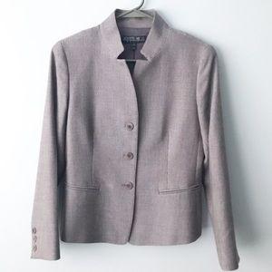 Lafayette 148 Petite Mandarin Collar Blazer Jacket